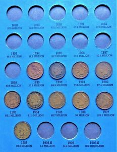 COINS-FROM-1857-1909-FLYING-EAGLE-CENT-INDIAN-HEAD-PENNY-FOLDER-PAGE-3-2