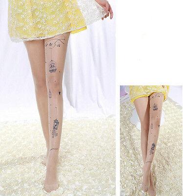 Fashion Lady Women Sexy Sheer Pantyhose Pattern Printed Tattoo Stockings Tights