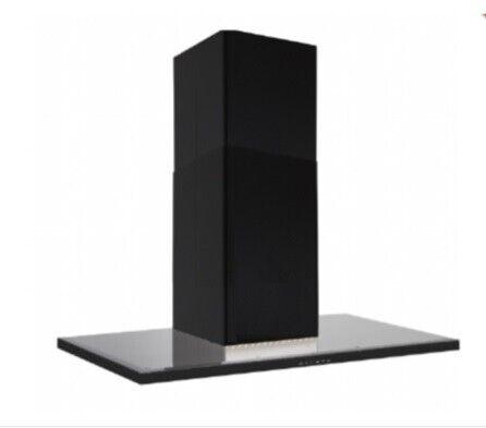 Silverline Nordic Dark 60 cm, sort m/sort glastop