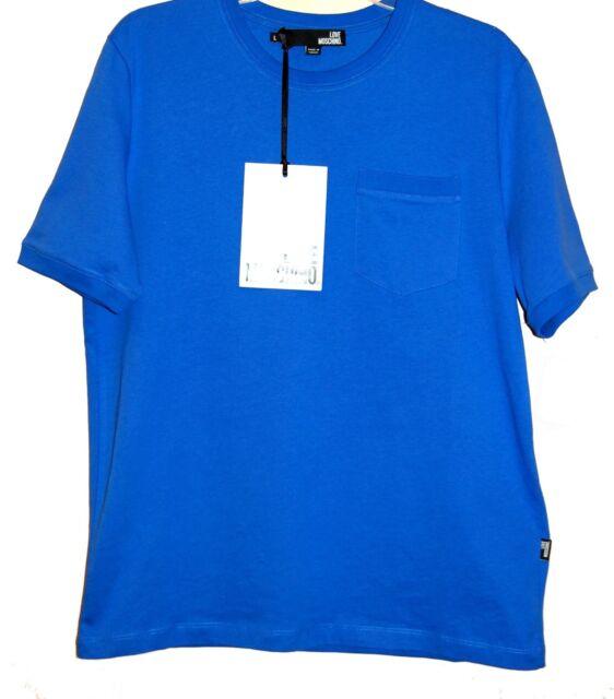 Love Moschino Blue Cotton Men's T-Shirt  Size L NEW