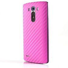 Fibra De Carbono Con Textura 3D Cubierta de Vinilo Pegatina de piel para todos los LG Mini G2 G3 G4 G5