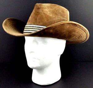 3767450ee Lanning Western Hat Size Medium 7 +/- Light Brown Felt 1.5 Inch Band ...