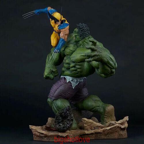 Los Vengadores Hulk Vs Wolverine Estatua Coleccionables Pvc Modelo en Caja límite En Stock