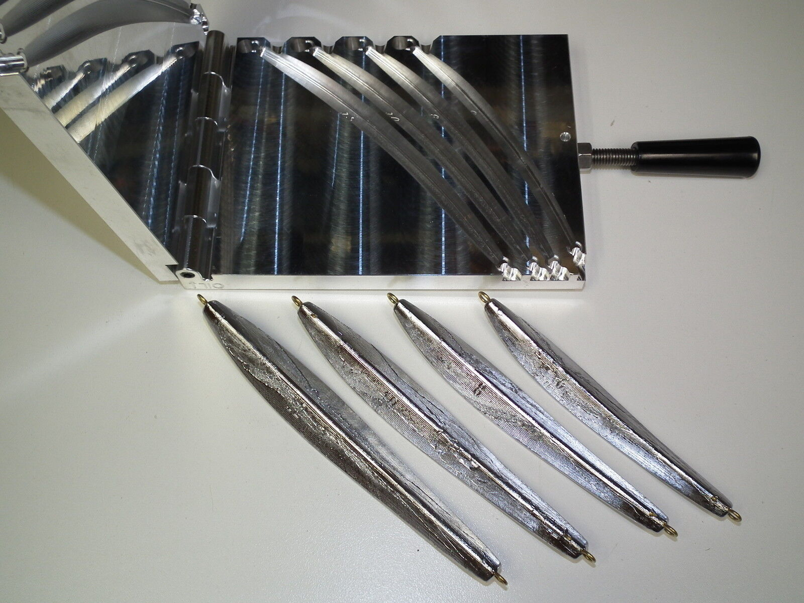Molde de agua salada COD Jig -2 CNC Aluminio 6,8,10,12oz