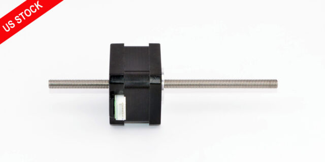 Nema 17 Stepper Motor Non Captive Linear Actuator 0.84A Lead Screw Length 150mm