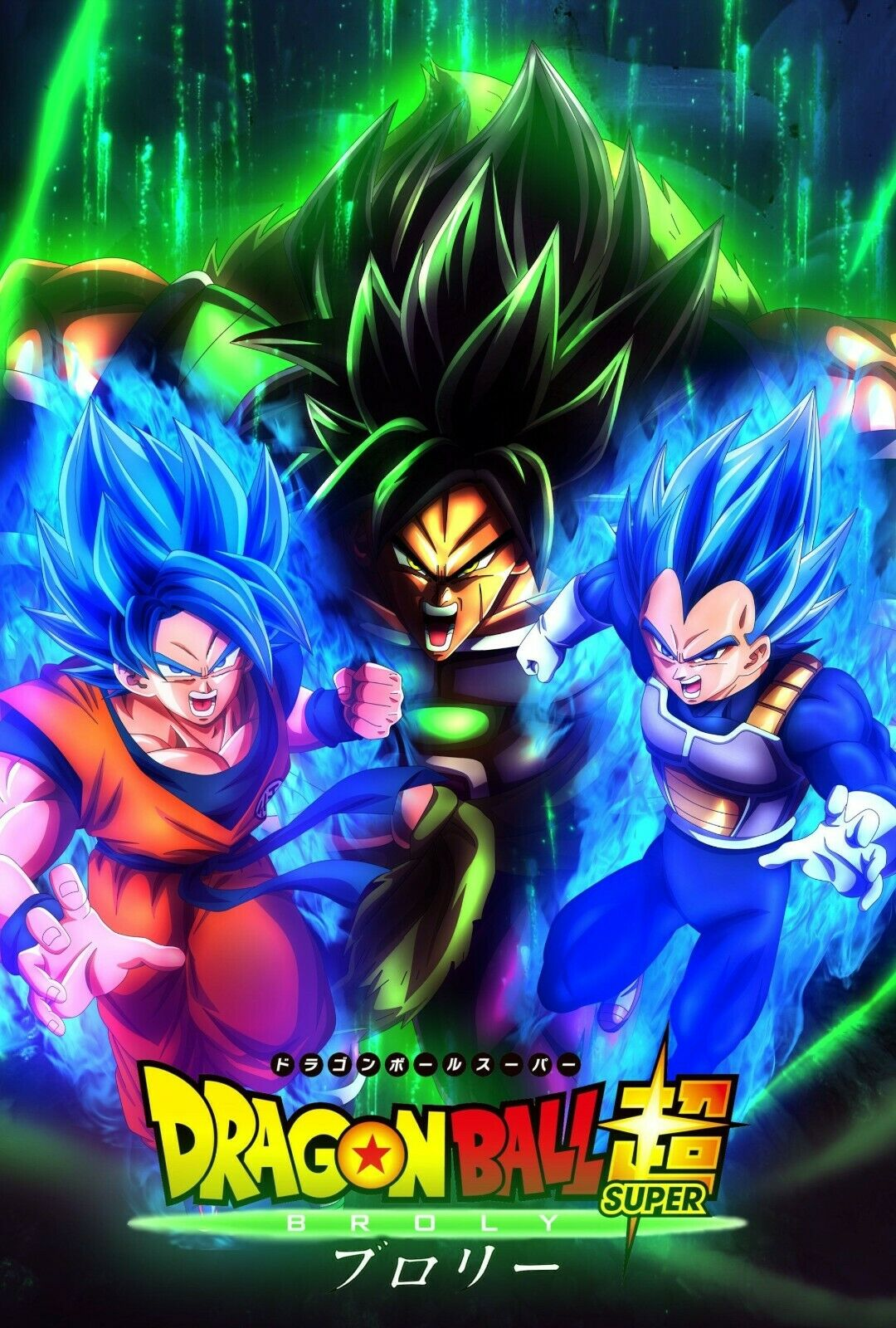 Dragon Ball Super Poster Trunks All Forms SSJ 1 2 Rage DBZ 11x17 13x19