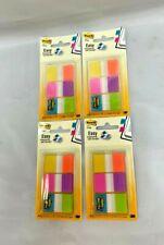 Lot Of 4 Post It Flags Electric Glow 60 Flags Per Pack 680 Eg Alt
