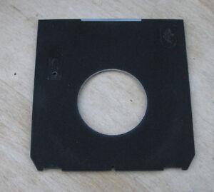 genuine-Linhof-5x4-Technika-Lens-board-panel-with-low-offset-copal-1-41-8mm-hole