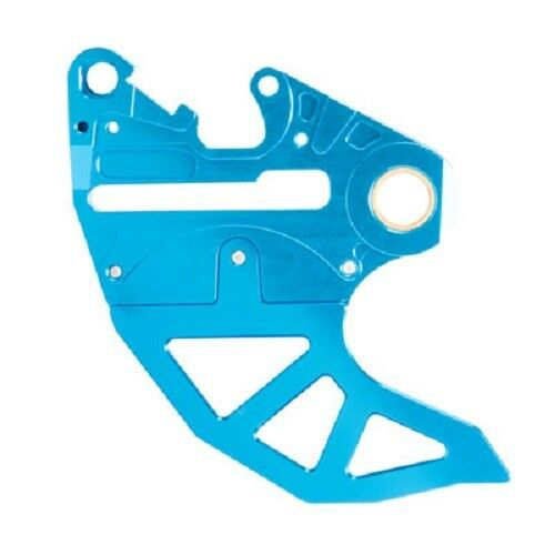 Tusk Rear Brake Caliper Support With Brake Disc Guard Protector KTM Blue