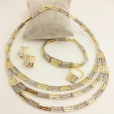Antique Copper Plated Fashion Dubai Gold Jewelry Set Nigerian Wedding African Beads Jewelry Sets Necklace Set for Women Ethiopian Jewelry NuNuNaNa