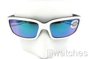 Costa Del Mar Caballito Sunglasses CL-30-OGMGLP 580G White BLK Green Polarized