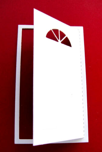 Any Colour//Card 6 Opening Front Door Embossed Die Cuts JC Christmas