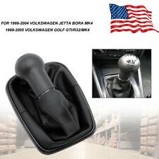 5 Speed Shift Knob Shifter Gear Boot For 99 2005 Vw Golf Bora Jetta Gti R32 Mk4