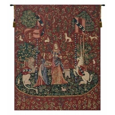 Jean Le Viste for The Lady and the Unicorn Hearing Medieval castle tapestry