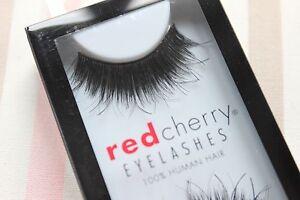 Red-Cherry-CHAKRA-102-falsche-schwarz-kuenstliche-Echthaar-Wimpern-strip-lash