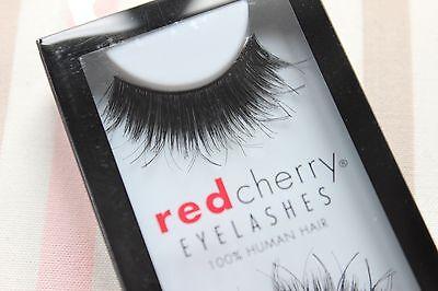 2x Red Cherry CHAKRA #102 falsche schwarz künstliche Echthaar-Wimpern strip lash