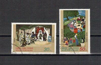 Pflichtbewusst Türk.zypern Michelnummer 120-121 Gestempelt Europa europa:5215 Briefmarken