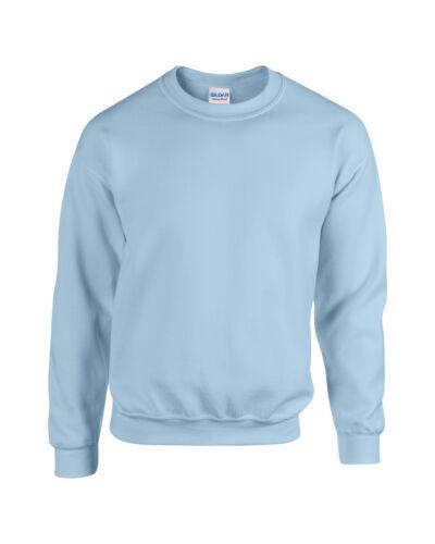Adult Sweatshirt Top S M L XL Herren Gildan Schwerer Stoff Rundhals Pullover