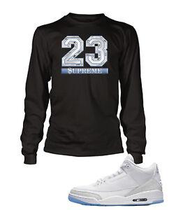0d819450411 Supreme 23 Tee Shirt to Match Air Jordan 3 Pure White Shoe Graphic T ...