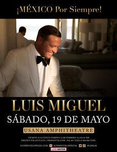 LUIS-MIGUEL-034-MEXICO-POR-SIEMPRE-034-2018-SALT-LAKE-CONCERT-TOUR-POSTER-Latin-Pop