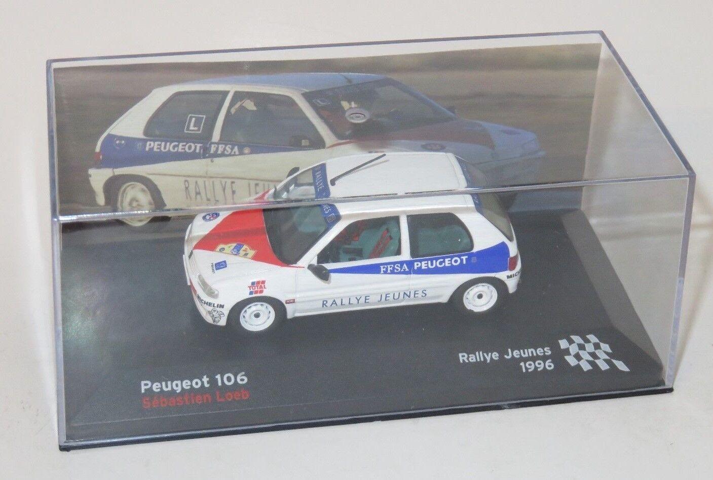 1 43 Peugeot 106   Rallye Jeunes  France 1996  S.Loeb