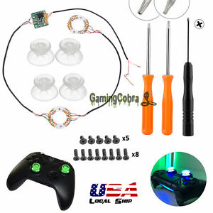 DIY-Button-Clear-Analog-Thumb-Sticks-Led-Light-For-PS4-Platstation-4-Controller
