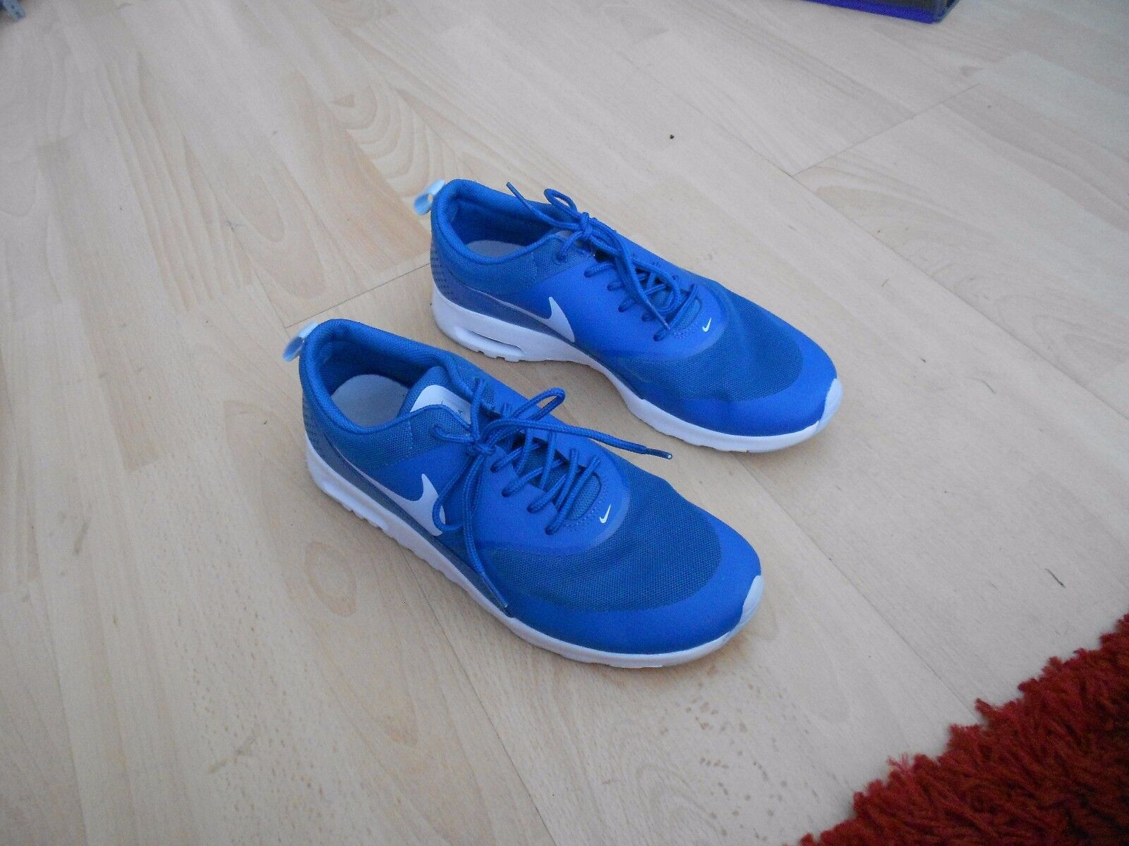 WOMENS NIKE AIR MAX THEA RUNNING TRAINERS -- SZ 8 - BRIGADE blueE
