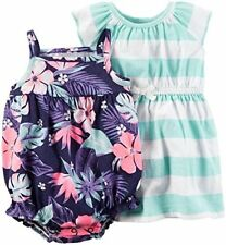 bf343f62fc2 item 6 NWT Carter s Baby Girls 2-Pack Tropical Romper and Strip Dress Set  -NWT Carter s Baby Girls 2-Pack Tropical Romper and Strip Dress Set