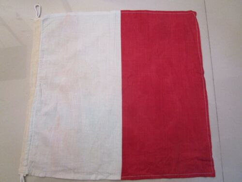 "C 100/% Cotton – Marine Code Naval Signal Flag Nautical // Boat 15/"" X 15/"""