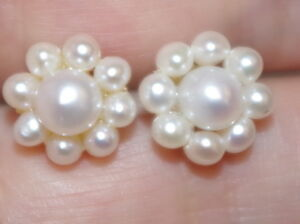 Image Is Loading Vintage 14k Gorgeous Genuine Seed Pearl 10mm Flower