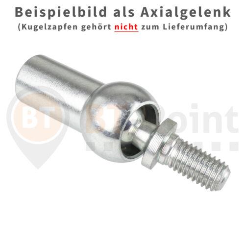 Axialkugelpfanne A8 M5 DIN 71805 Stahl verzinkt Axial Kugelpfanne Kugel Pfanne