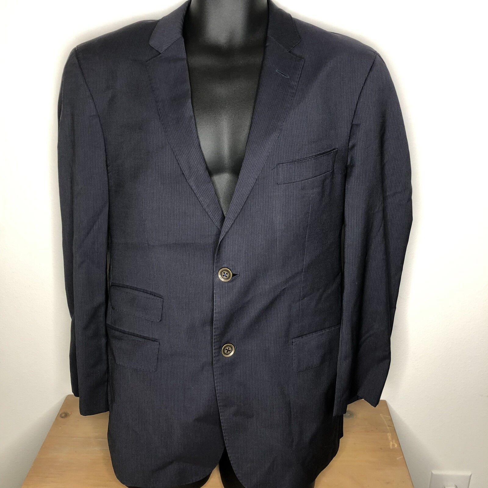 Hugo Boss  Herren Pinstripe Wool Suit 40 Pants 32 Waist MSRP 795