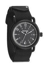 Authentic Nixon AXE All Black Nylon Watch Brand New In Box! A322 1148 A3221148
