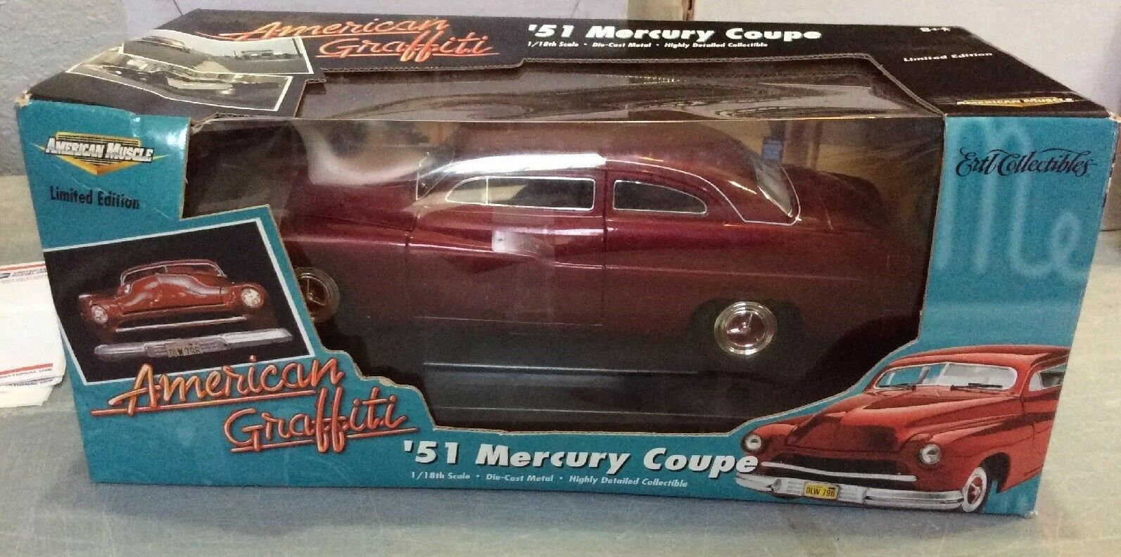 1 18 SCALE ERTL AMERICAN MUSCLE AMERICAN GRAFFITI '51 MERCURY COUPE