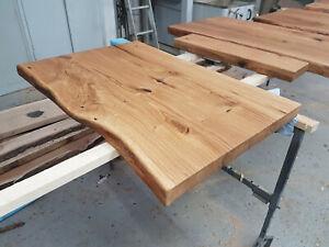 Holzplatte Badezimmer Eiche Baumkante Aufsatzbecken Waschtisch geölt