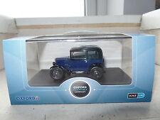 Oxford ASS002 1/43 O Scale Austin Seven RN Saloon Car Light Royal Blue