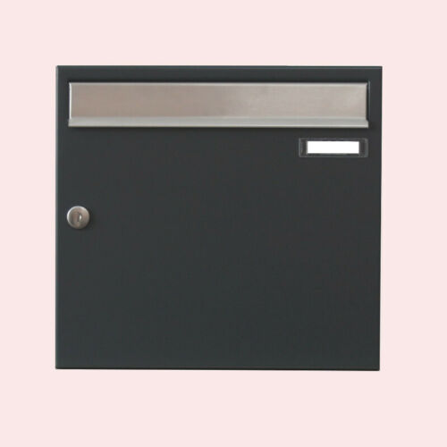 Design Briefkasten Postkasten anthrazit RAL 7016 Edelstahl V2A Wandmontage