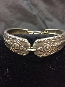 Vintage-Silver-Plated-Silverware-Flatware-Spoon-Bracelet