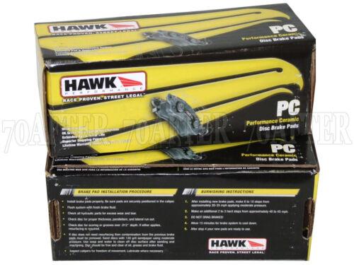 for 08-16 Toyota Land Cruiser Front /& Rear Set Hawk Ceramic Brake Pads
