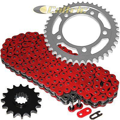 Green O-Ring Drive Chain /& Sprockets Kit Fits HONDA CBR1000RR 2004 2005