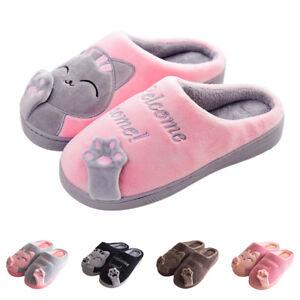 Women's Winter Home Slippers Cartoon Cat Home Non-slip Soft Couple Floor Shoes