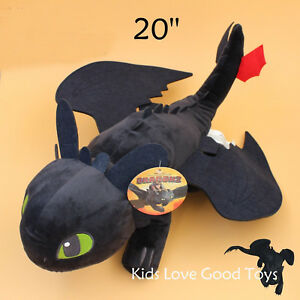 How-to-Train-Your-Dragon-2-Toothless-Night-Fury-20-034-Stuffed-Toy-Soft-Plush-Doll