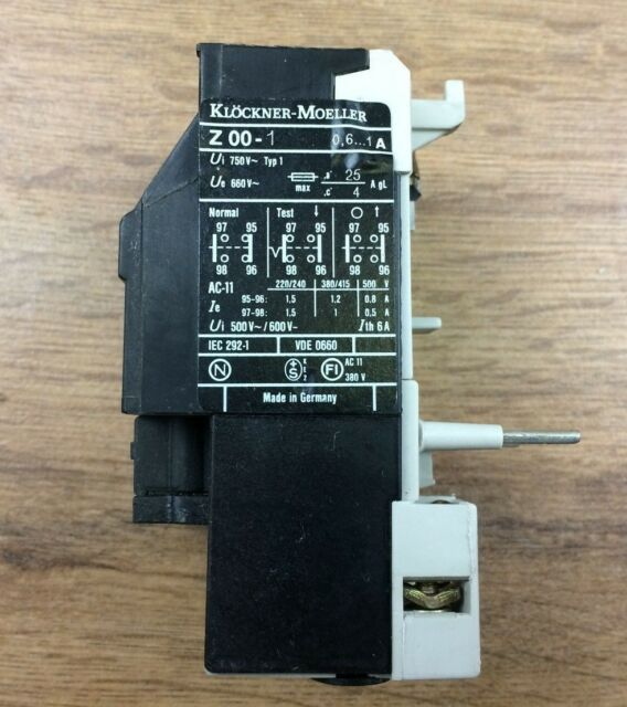 Z00-1 Overload Relay 0.6-1A Klockner-Moeller