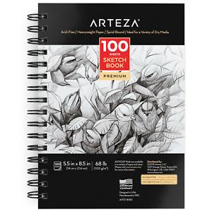 Arteza-Sketchbook-5-5-034-x-8-5-034-100-Sheets