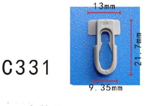 20Pcs Nylon Body Side Moulding Trim Clip Retainer Fit GM General Motor 9838109