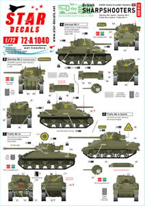 Star-Decals-1-72-Britanico-Sharpshooters-75th-D-Day-Especial-72-A1040