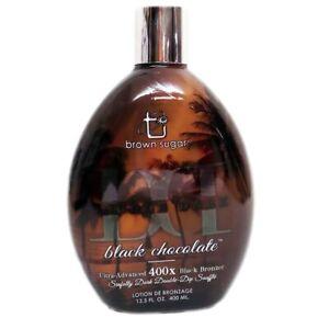 Brown-Sugar-DOUBLE-DARK-BLACK-CHOCOLATE-Advanced-Bronzer-Tanning-Lotion-13-5-oz