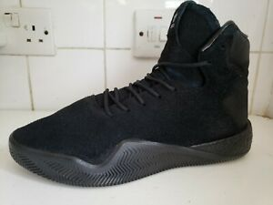 9 EU 43 BLACK HAIRY SUEDE TRAINERS