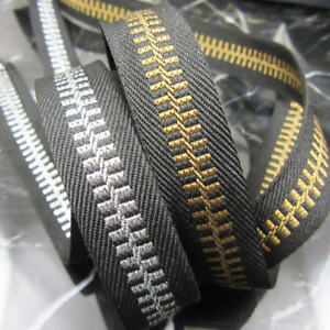 RIBBON-TRIM-034-LOOKS-LIKE-ZIP-034-15mmWIDE-SILVER-OR-GOLD