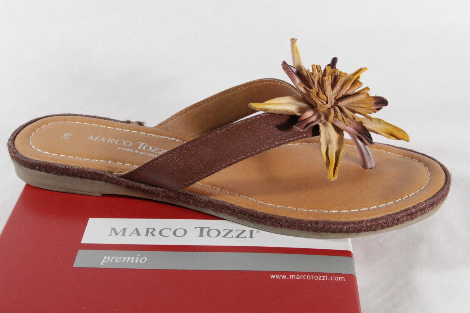 Marco Tozzi sandales tongs mules marron semelle intérieure SOUPLE NEUF